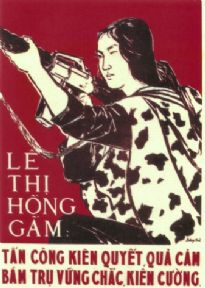 Vietnamese Woman at War Propaganda Poster